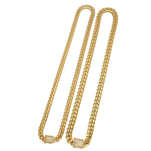 Hip Hop Necklace- Heavy Stainless Steel Miami Cuban Link Chain