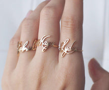 Personalized Free Size Name Ring For Women