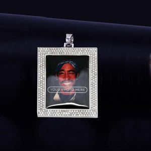 Custom Made Photo Square Medallions Necklace