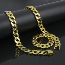 Hip Hop Jewelry Set 15mm Cuban Chain Hip Hop