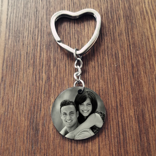 Picture Key chain - Round Key chain Engrave With Photo