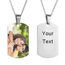 Personalized Photo Necklace-With Back Engraved