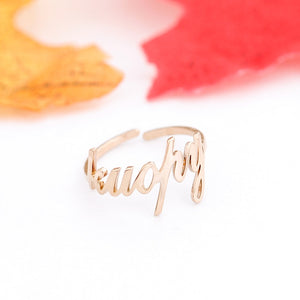 Custom Name Ring Adjustable Size