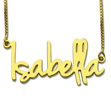 Personalized Retro Style Name Necklace For Women
