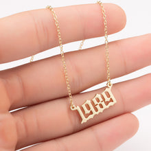 Custom Date, Year, Number Necklace - Custom memorable day or number