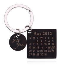 18K Gold Plated Calendar Keychain- Best Custom Keychain With Engraving Name, Date, Initials