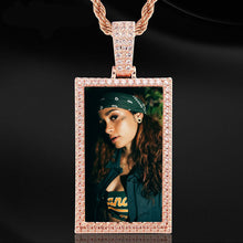 Custom Made Square Photo Medallion Necklaces Christmas Gifts For Women