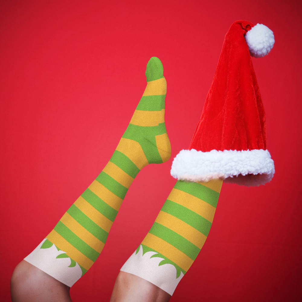 f866897a71 ... Compression Socks HOLIDAY Santa/Christmas Sweater 15-20 mmHg Two Pack -  Vieni a ...