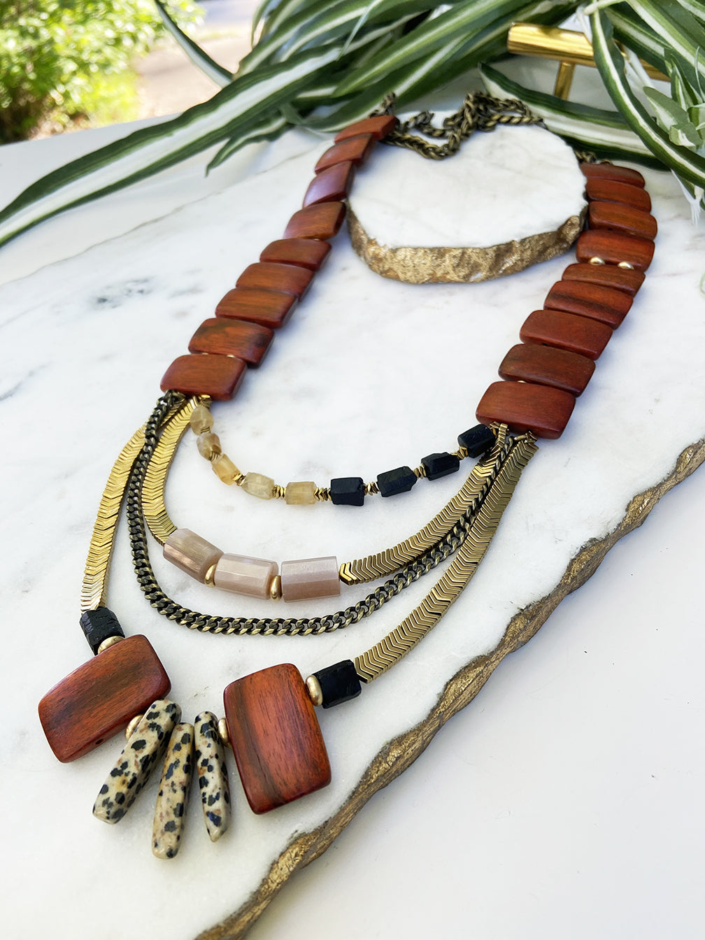 tiered necklace - GR-T-05-NL