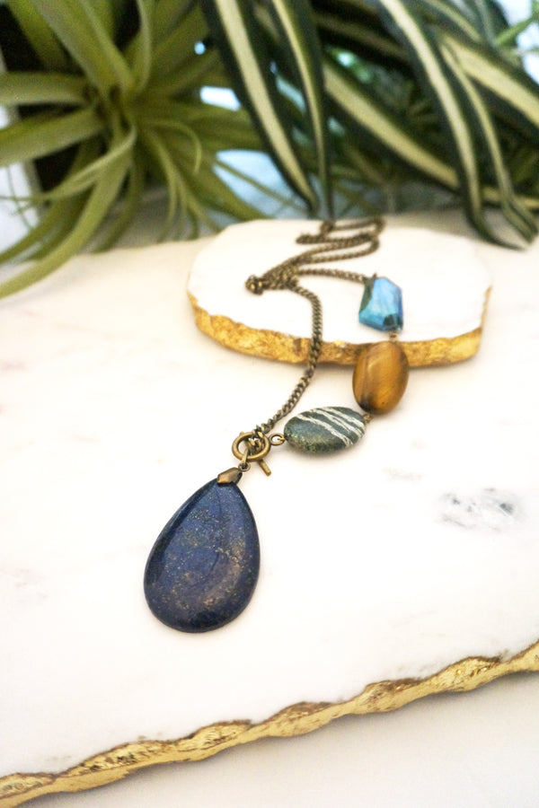 asymmetrical pendant necklace - 001-NL