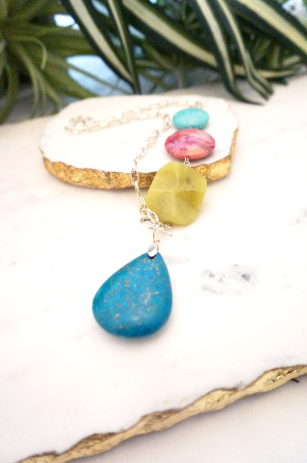 asymmetrical pendant necklace - 003-NL