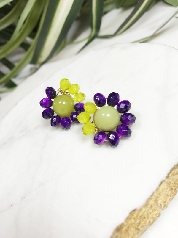 bauble post earrings - BB-P-004-ER