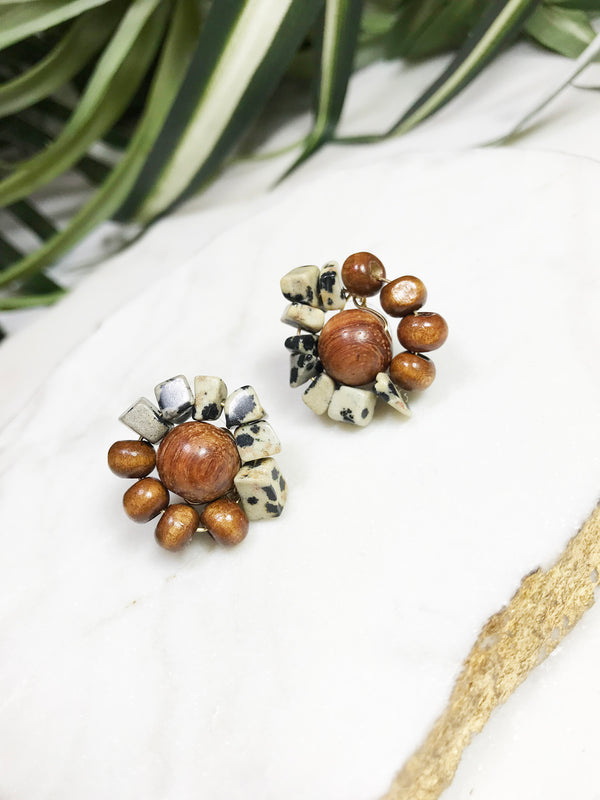 bauble post earrings - BB-P-005-ER