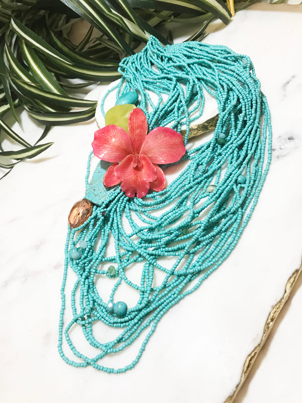 bloom multistrand necklace - BL-M-003-NL