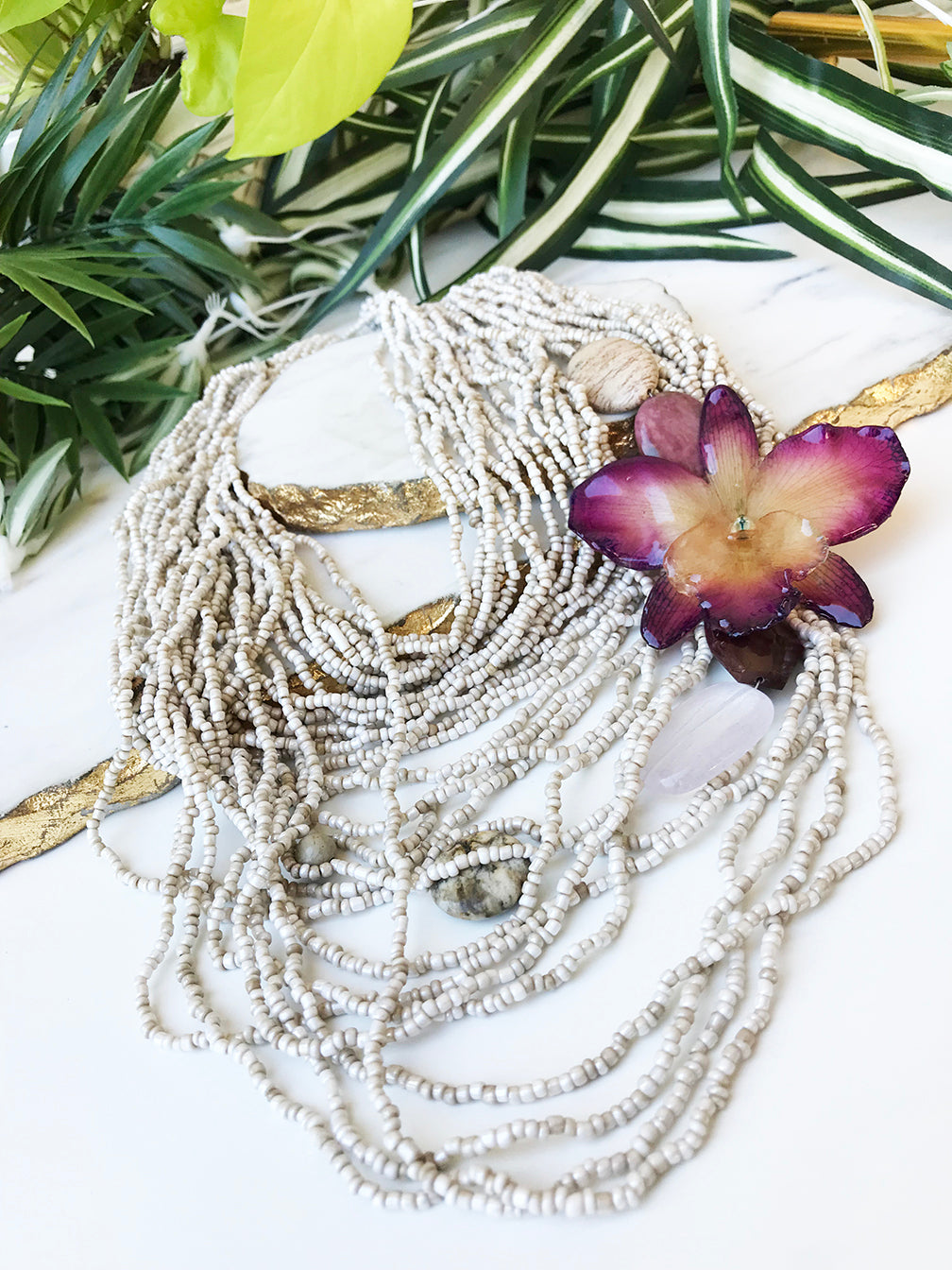 bloom multistrand necklace - BL-M-008-NL