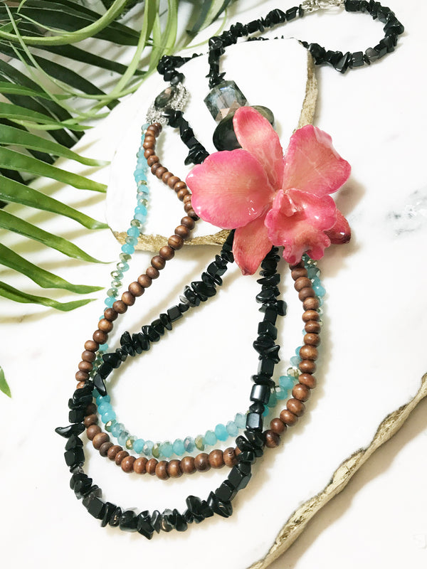 bloom tiered necklace - BL-T-001-NL