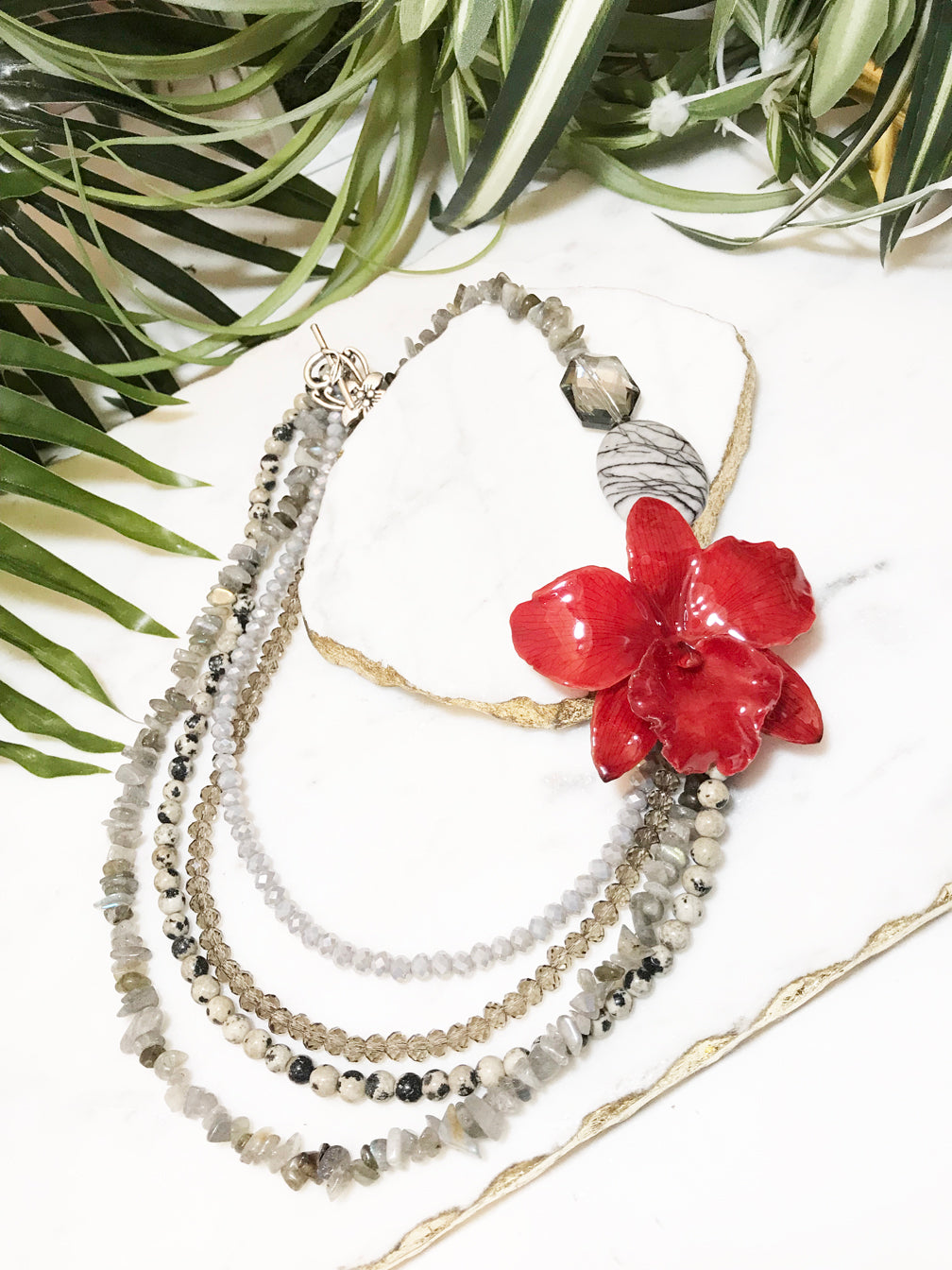 bloom tiered necklace - BL-T-002-NL