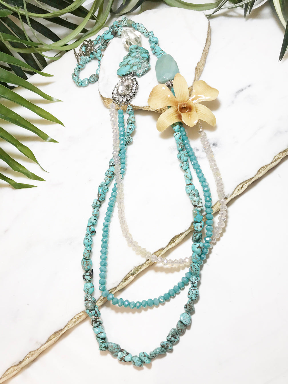 bloom tiered necklace - BL-T-004-NL