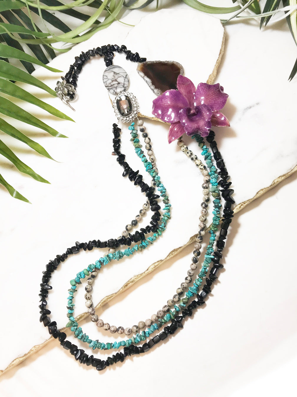 bloom tiered necklace - BL-T-005-NL
