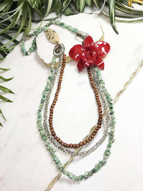 bloom tiered necklace - BL-T-006-NL