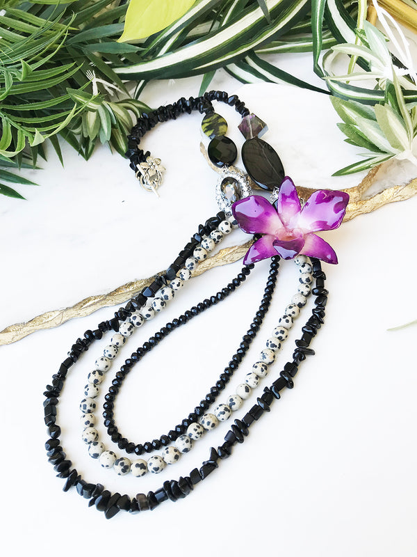 bloom tiered necklace - BL-T-007-NL