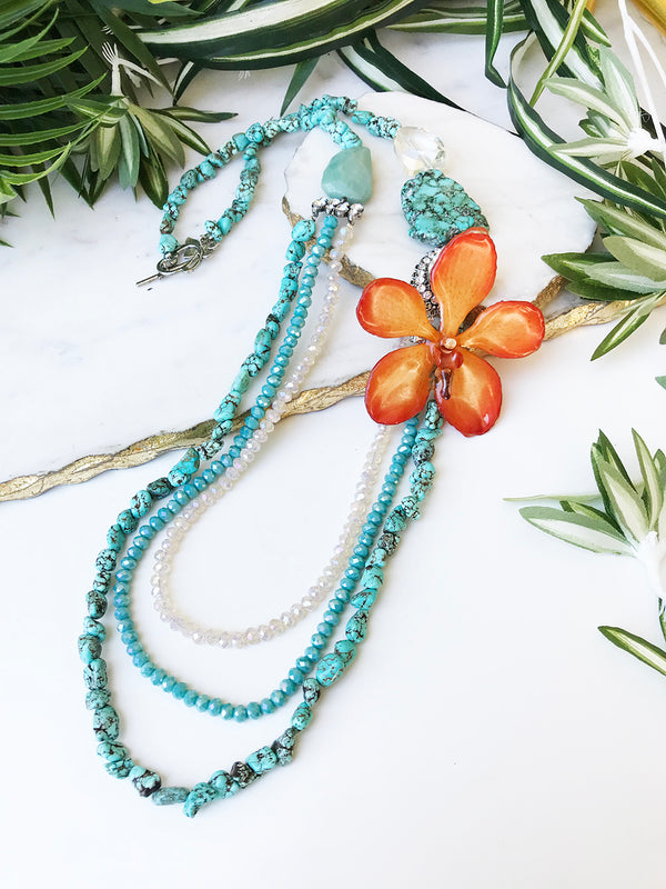 bloom tiered necklace - BL-T-008-NL