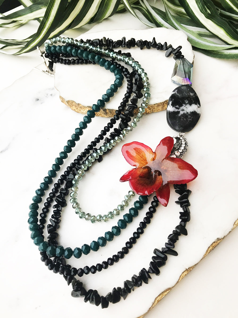 bloom tiered necklace - BL-T-016-NL