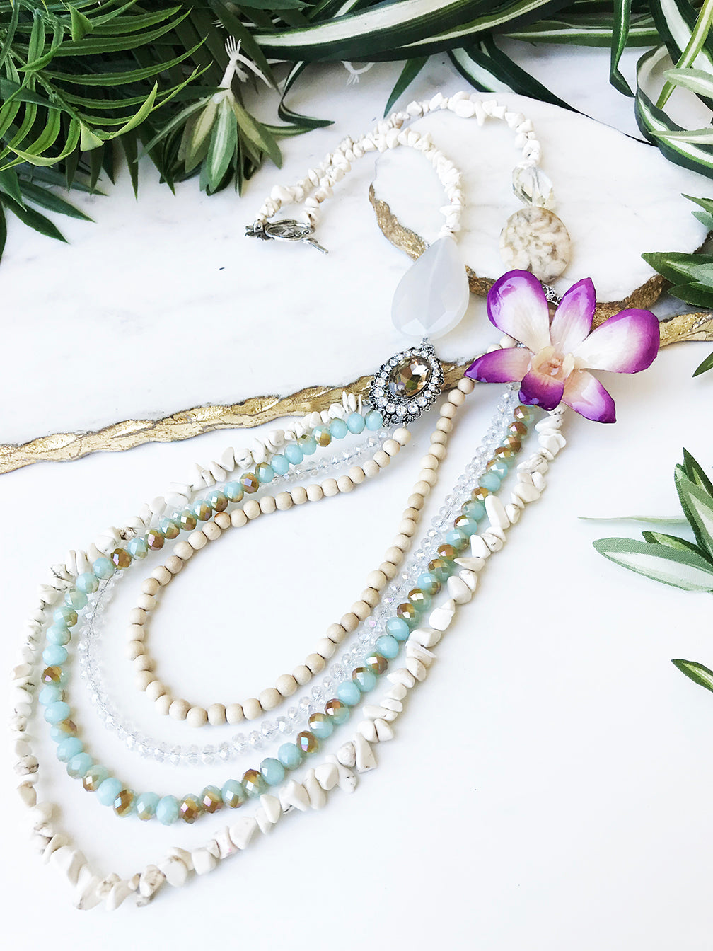 bloom tiered necklace - BL-T-009-NL