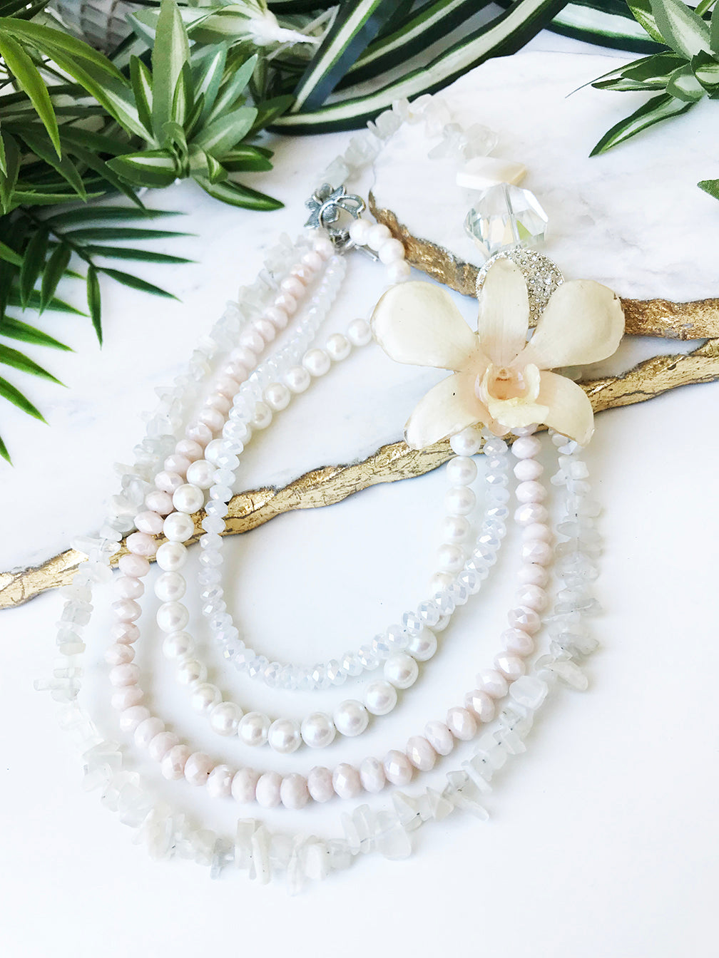bloom tiered necklace - BL-T-011-NL