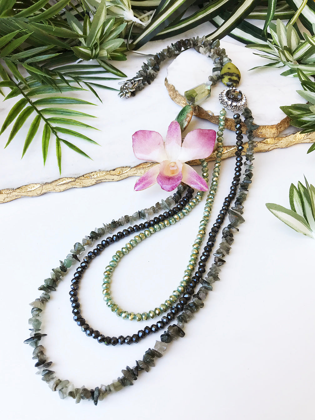 bloom tiered necklace - BL-T-012-NL