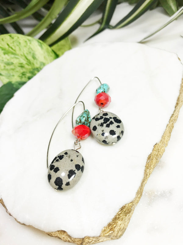 collage earrings - CL-003-ER