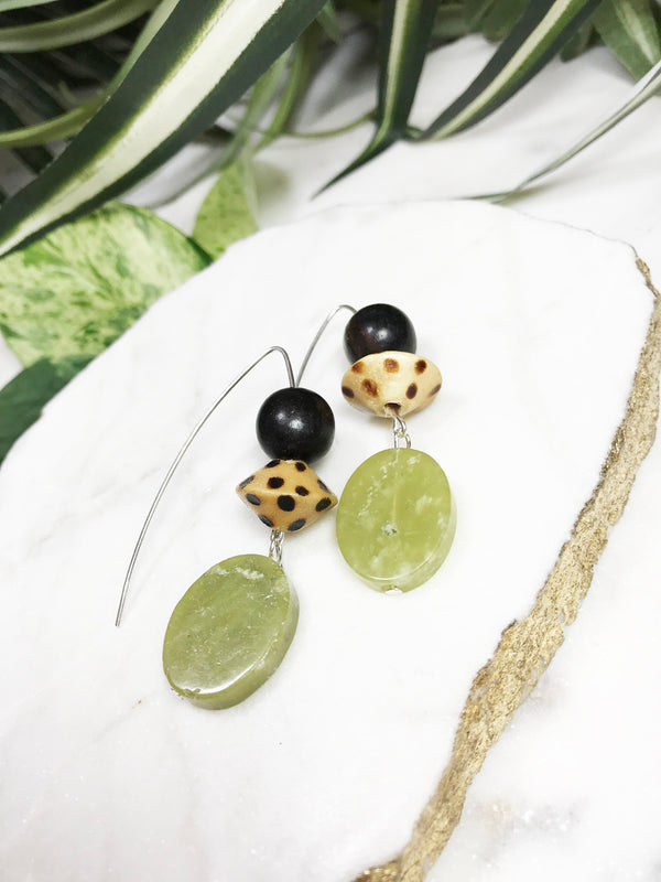 collage earrings - CL-005-ER