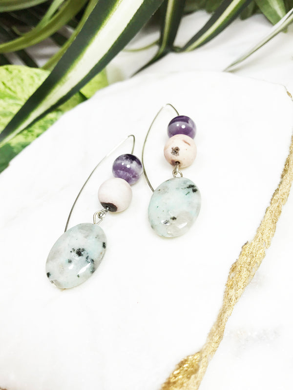 collage earrings - CL-006-ER