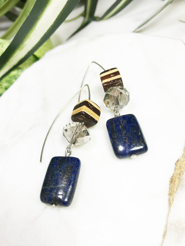 collage earrings - CL-007-ER