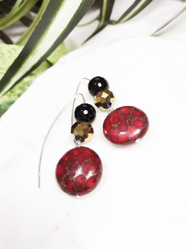 collage earrings - CL-009-ER
