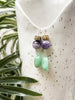 amethyst and chrysoprase collage earrings