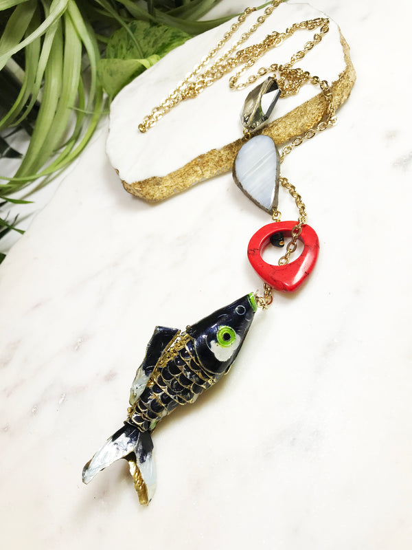 hooked necklace - HK-001-NL