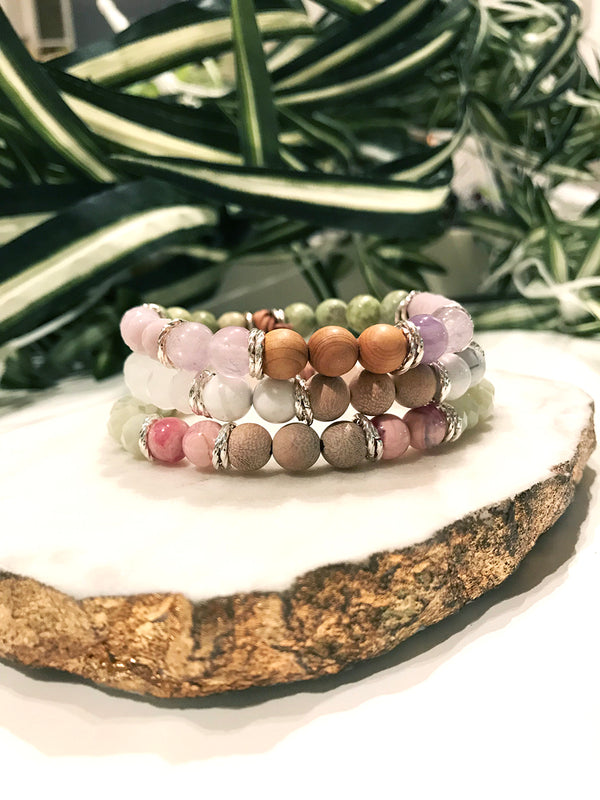 custom therapy bracelet stack - TH-3X-01-BR