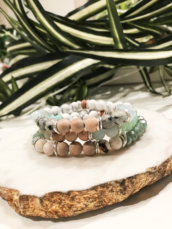 custom therapy bracelet stack - TH-3X-02-BR