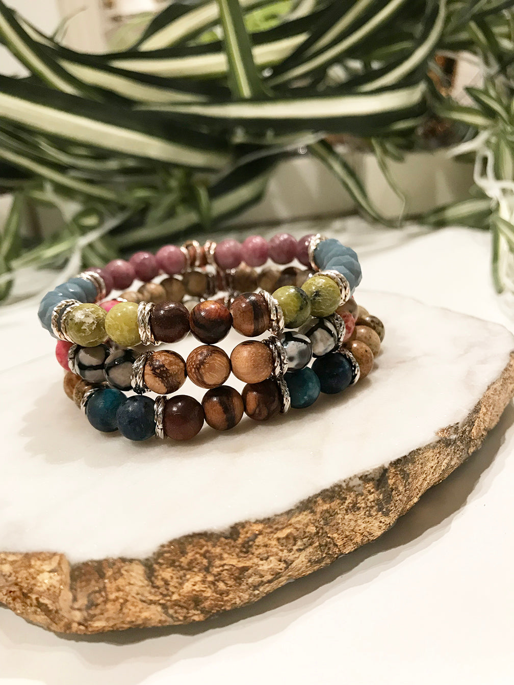 custom therapy bracelet stack - TH-3X-04-BR