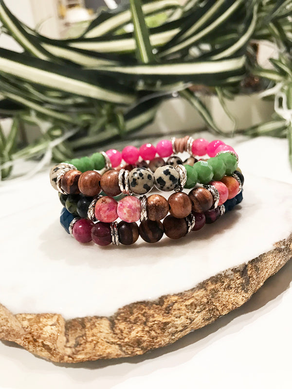 custom therapy bracelet stack - TH-3X-05-BR