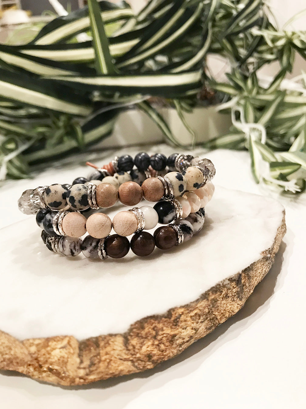 custom therapy bracelet stack - TH-3X-06-BR