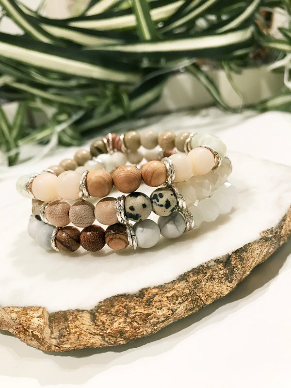 custom therapy bracelet stack - TH-3X-07-BR