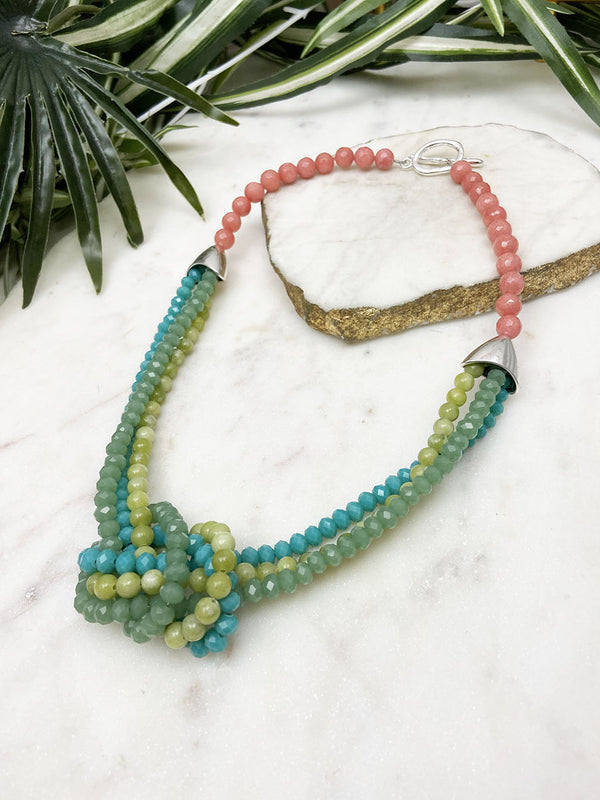 olive jade and blue uptown necklace