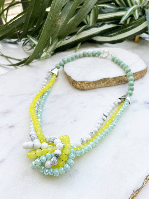 yellow and mint uptown necklace