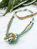 moss green and turquoise uptown necklace