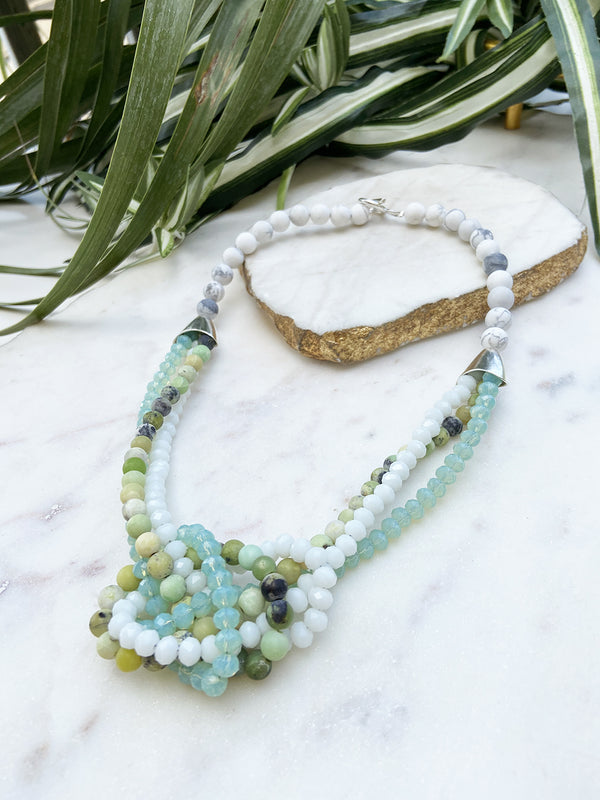 grass turquoise and robin's egg blue uptown necklace