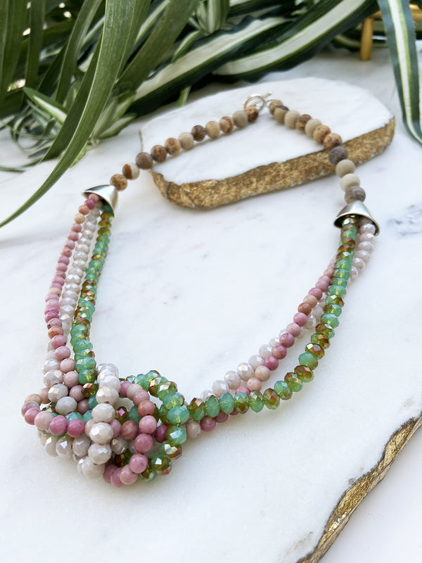 rhodonite and green uptown necklace