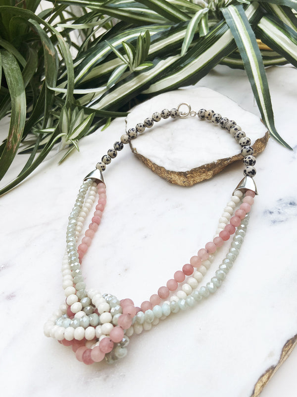 pink and mint uptown necklace