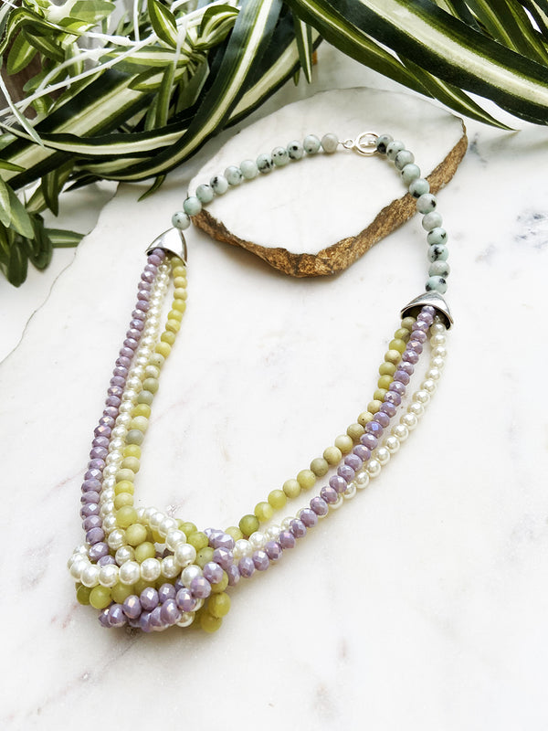lemon jade and lavender uptown necklace